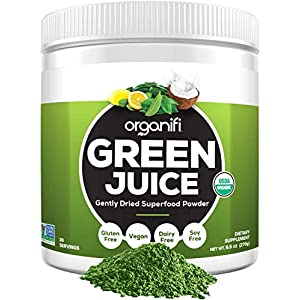 Gut Health Shop 51awPN7%2BKuL._SS300_ Organifi: Green Juice - Organic Superfood Powder - Organic Vegan Greens - Helps Decrease Cortisol - Provides Better…