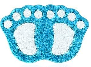 Cartoon Absorbente Felpudo/antideslizantes transpirable/4060cm (4867cm) 7colores (color: azul, tamaño: pequeño)