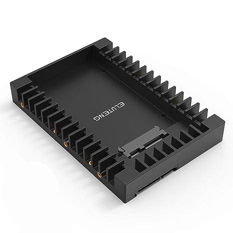 eluteng 2,5 A 3,5 adaptador de disco duro SATAIII SSD Soporte de ...