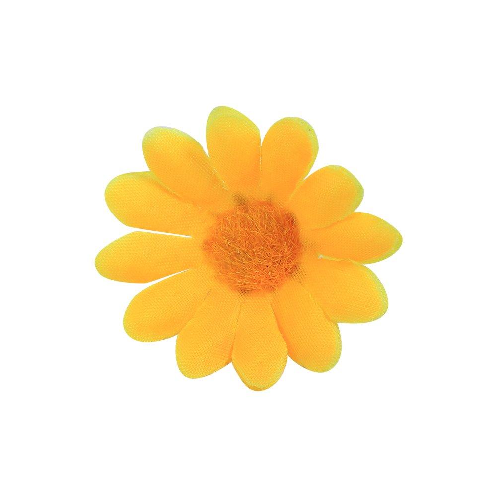 FTVOGUE 100/Pcs Artificielle Gerbera Marguerite Tissu T/ête de Fleur f/ête de Mariage d/écoration m/étier 1