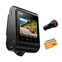 "Roav by Anker Dash Cam C1, Dashboard Camera Recorder, 2.4"" LCD, 1080P FHD, 4-Lane Wide-Angle View Lens, Built-In WiFi, G-Sensor, WDR, Loop Recording, Night Mode, 2-Port Charger, 32G microSD Card"