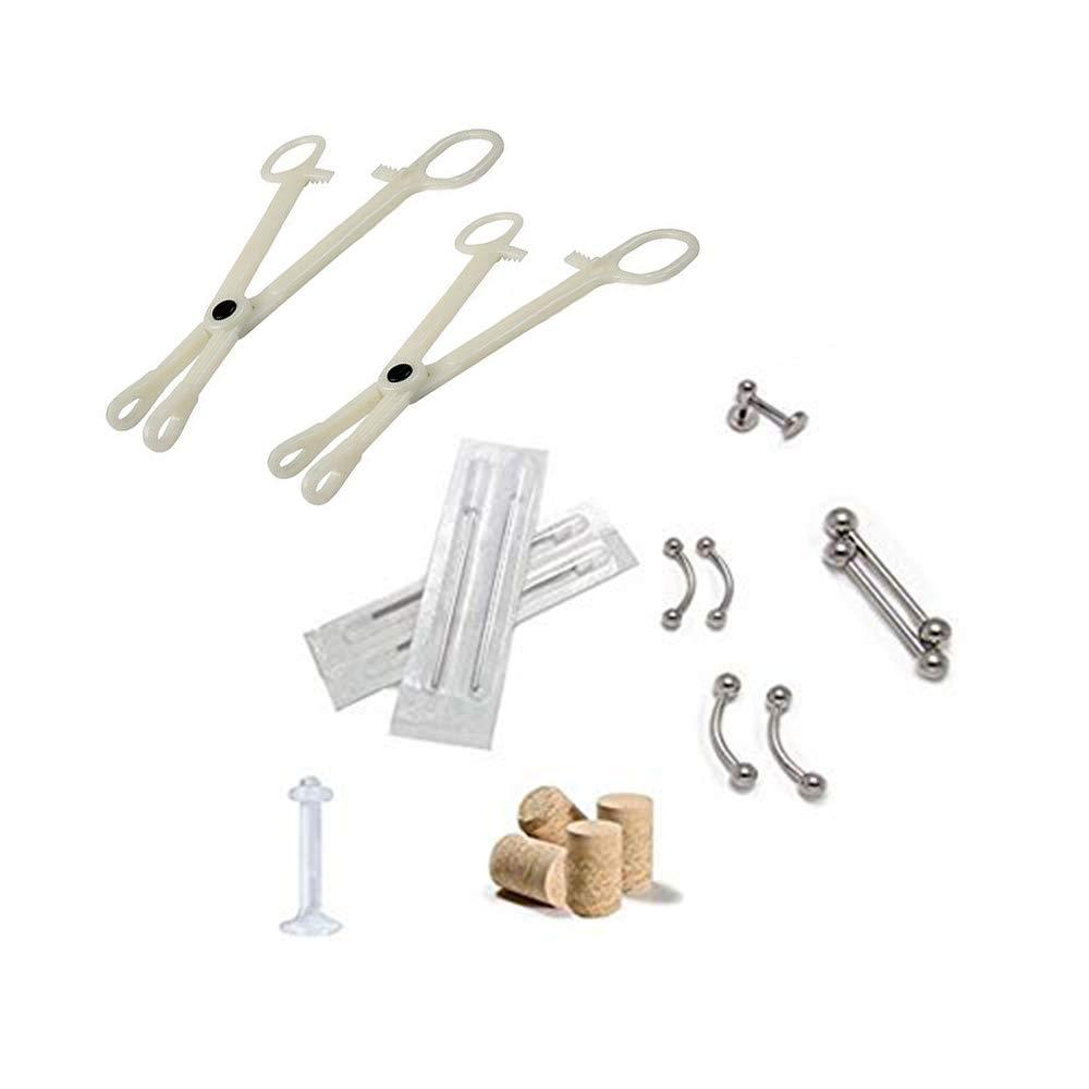 Eyebrow Nipple Belly Tongue Body Piercing Tool Kit Piercing Jewelry Needles Kit