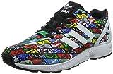 Adidas Men's ZX Flux, WHITE/BLACK/MULTI-COLOR, 10.5 M US