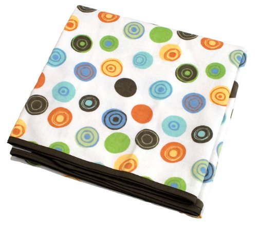 Kushies Flannel Receiving Blanket - Single Pack (Crazy Circles White)