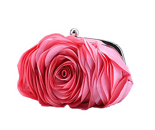 Aronvivi - Cartera de mano para mujer rose red(1) talla única Watermelon Red