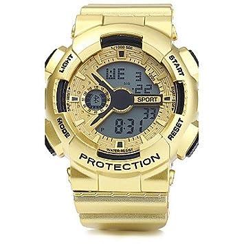 Relojes Hermosos, Hombre Reloj de Pulsera Reloj Deportivo Digital Despertador Calendario Cronógrafo Resistente al Agua LED PU Banda Cool Plata Dorado Oro ...
