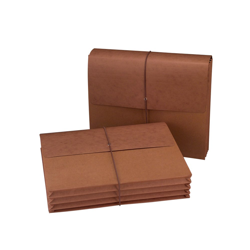 Smead Wallet, 3-1/2'' Expansion, Flap and Cord Closure, Letter Size, Redrope, 10 per Box (72088)