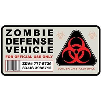 Amazon Com Zombie Defense Vehicle Bumper Sticker