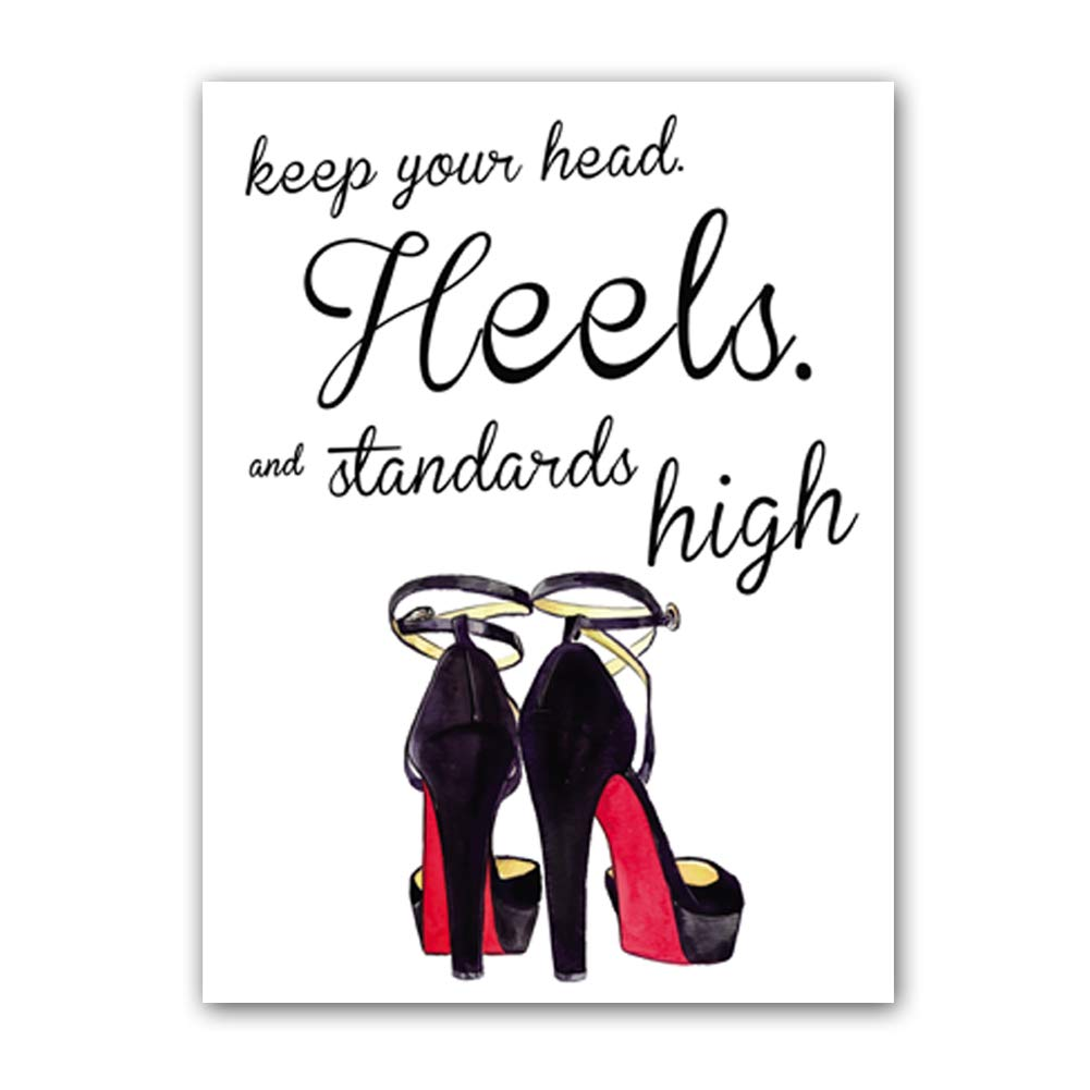 """aca9d7255f8de Keep Your Head Heels,and Standards high Quote Fashion Art Painting High  Heels Prints Set of 1 (12""""X16"""" Fashion Women Art Print,Inspirational Poster  ..."""