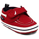 Nautica Tiny River 2, Baby Prewalker,Velcro Crib Sneakers,Soft Sole Shoes-Red-1