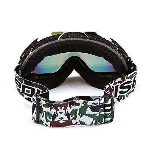 SE7VEN Masques De Ski Anti Brouillard,Double Couche Lumière Polarisée Lunettes De Neige Unisexe Compatible Avec Une Myopie Alpinisme Sports D'hiver En Plein Air D
