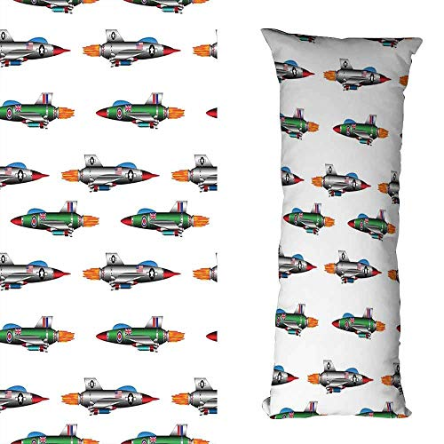 DuckBaby Fashion Pillowcase Airplane Collection of Jet-Planes Aviation Attack Modern Technology United Kingdom Model Soft and Durable W19.5 xL59 Multicolor