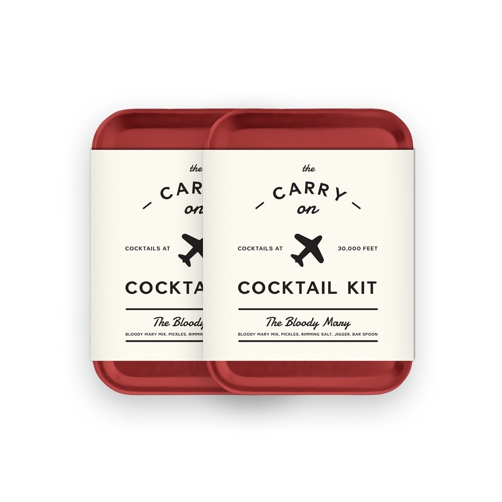 W&P Carry On Cocktail Kit Bloody Mary | Set of 2 | Travel Kit for Drinks on the Go Craft Cocktails TSA Approved
