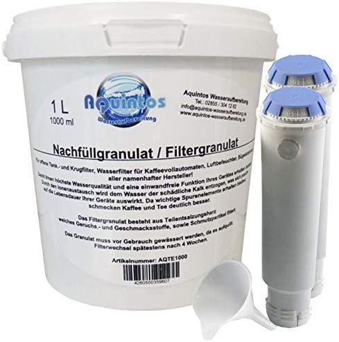 Juego de recambio: 2 filtros rellenables + 1 L de granulado para ...