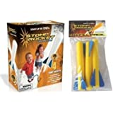 Stomp Rocket Junior Glow Kit with Extra Jr. Glow Rocket Refills, Blue