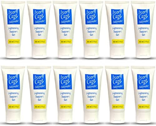 12 Ivory Caps Intimate Skin Lightening Support GEL Whitening