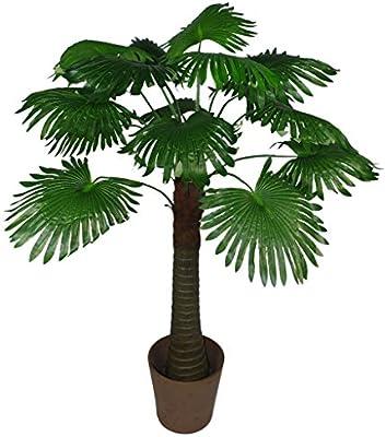 LeafUK 135 cm Artificial Árbol de Palm Hojas de Ventilador ...