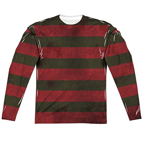 Nightmare On Elm Street Freddy Sweater Adult Long Sleeve T-Shirt Heather Small