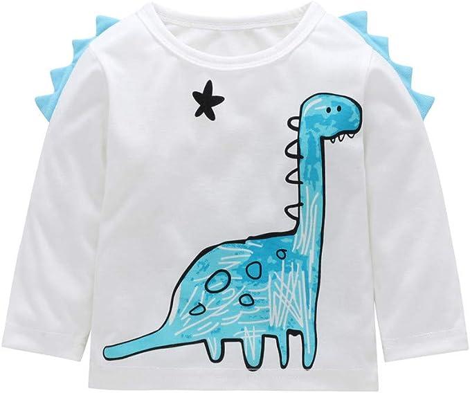 YanHoo Ropa para niños Camiseta de Manga Larga con Estampado de ...