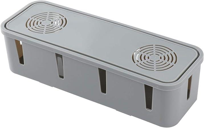 TOPBATHY - Caja organizadora de Cables para Ocultar y Ocultar Cables de Ordenadores de TV, plástico abs, Gris, 1 Pieza: Amazon.es: Hogar