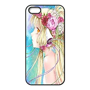 IPhone 5,5S Cases Chobits Beautiful Rose, Chobits Cases Tyquin, {Black}