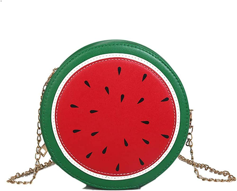 Fashion Peach Watermelon Avocado Pu Leather Ladies Shoulder Bag Tote Crossbody Mini Messenger Bag Flap Handbag