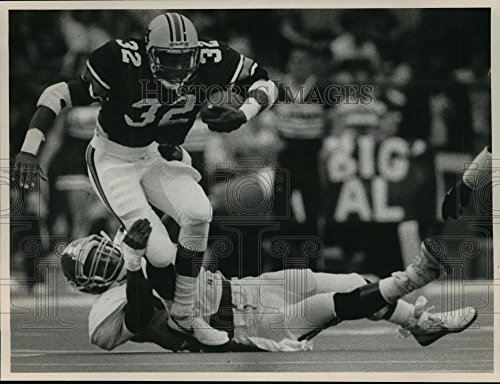 1987 Press Photo Auburn University Football Player Stacy Danley in the Iron Bowl - 7.75 x 10 in. - Historic - Bowl Iron Auburn