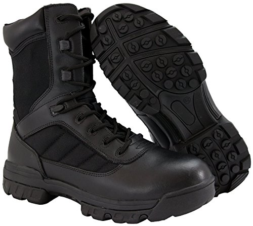 8'' Ryno Gear Tactical Combat Boots with CoolMax Lining (Black) (11) by Ryno Gear
