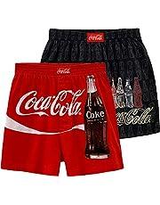 Coca-Cola Men's Cotton Boxer Shorts Enjoy Coke Bottoms Pack of 2