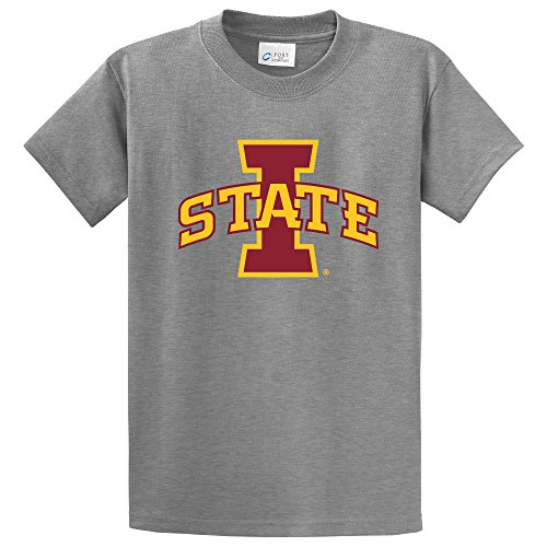 Campus Merchandise NCAA Iowa State Cyclones Short Sleeve Tee, 3X-Large, Athletic Heather