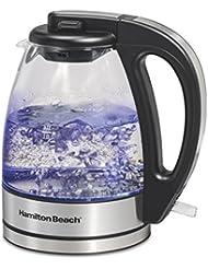 Hamilton Beach Compact Glass Kettle, 1 Liter (40930)