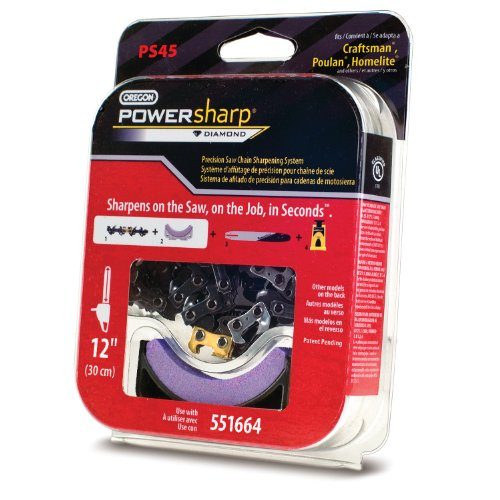 Oregon PS45 12-Inch PowerSharp Saw Chain and Stone for PowerSharp Bar