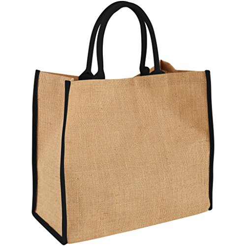 Tote Large Estilo azul Modelo Yute Bullet De Bolso Natural Marino The Xq6wE