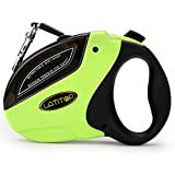 LATITOP Retractable Dog Leash Heavy Duty with 16 Ft Sturdy Nylon Leash Tangle Free, One Button Break & Lock, for Medium Large Dogs up to 110lbs