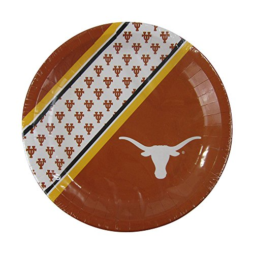 NCAA Texas Longhorns Disposable Paper Plates, Pack of 20]()