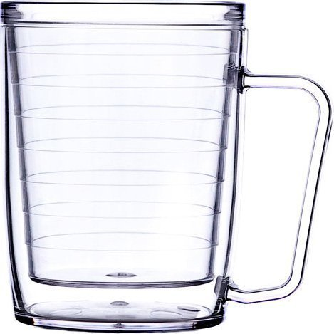 Signature Tumbler Plastic Glass Unbreakable Double-wall Insulated Coffee Mugs 18 Oz ()
