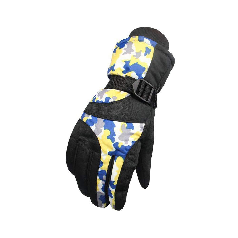 Dall Gloves Gloves Winter Warm Ski Glove Windproof Non-Slip Men Adjustable Size (Color : 004)