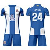 a35486b5b LISIMKEM RCD Espanyol Wu Lei 24 Soccer Jersey Men s Home Color White and  Blue