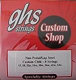 GHS Custom Lap Steel Guitar Strings - C6th-8 Strings, Gauges 15-54W - 1 Set