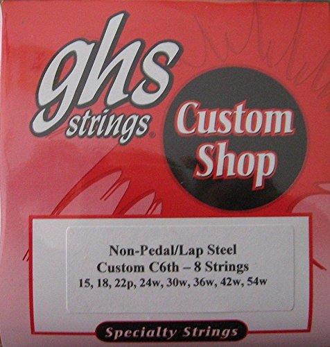 GHS Lap Steel Guitar Strings - C6th-8 Strings - Gauges 15-54W - 1 Set