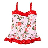 Azul Baby Girls Pink Red Floral Print Heaven Scent One Piece Swimsuit 24M