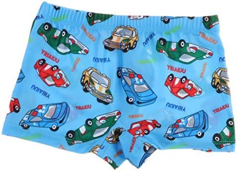 漫画のパターンの水着、男の子のための調節可能なウエストが付いている水泳のトランク