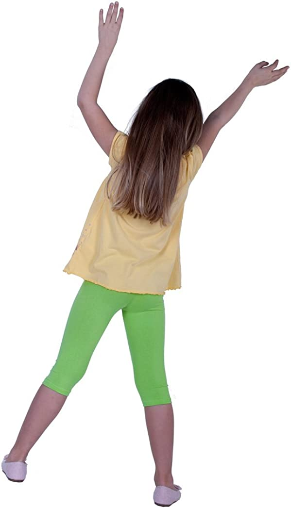 Girls Cotton Cropped Or Cycling Shorts Leggings Sizes 3 Years 12 Years Wide Rage Of Colours