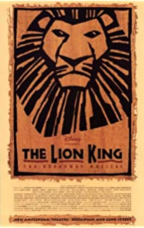 The Lion King Broadway Musical Poster Theater Play 11x17 MasterPoster Print