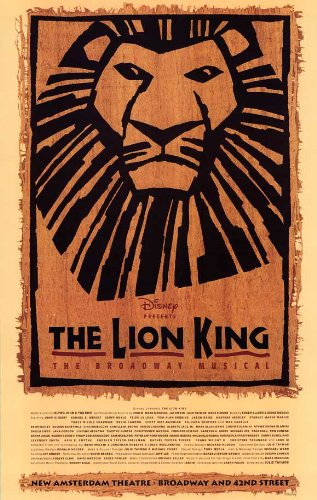 The Lion King The Broadway Musical Poster Broadway 11 x 17 I