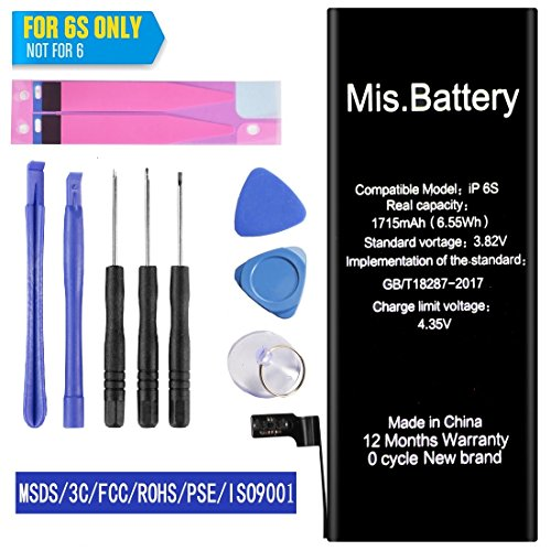 Iphone 6S Battery  Iphone Battery 6S Replacement  Li Ion Battery With Repair Replacement For Iphone 6S 4 7Inch 3 82V 1715Mah