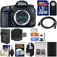 Canon EOS 7D Mark II GPS Digital SLR Camera Body with 32GB Card + Backpack + Battery & Charger + Remote + Kit Benefits Review Image