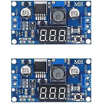 [2-pack] LM2596s Buck Converter DC to DC Step-down Voltage Regulator Power Module 36V 24V 12V to 5V 2A Voltage Stabilizer with LED Display