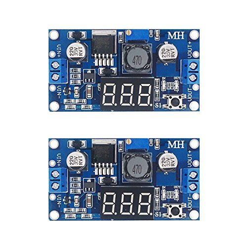([2-pack] LM2596s Buck Converter DC to DC Step-down Voltage Regulator Power Module 36V 24V 12V to 5V 2A Voltage Stabilizer with LED Display)