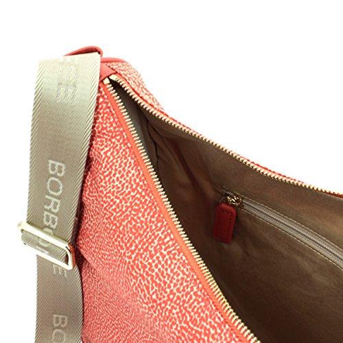 Borbonese 934756296, Borsa a Tracolla Donna, 28x24x11 cm (W x H x L) Rosso